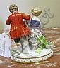 Image 10 for Meissen porcelain figures of romantic couples (3pcs)