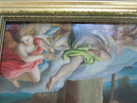 Vienna porcelain pictorial plaque after Correggio