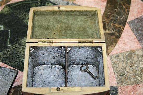 Georgian tortoiseshell double tea caddy