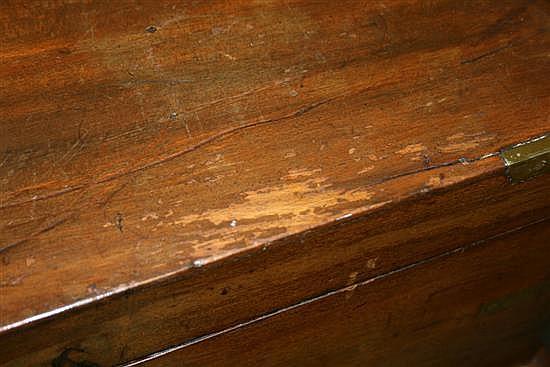 Regency mahogany lap desk on stand