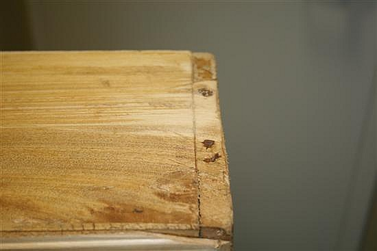 Louis XV mixed wood veneer serpentine commode