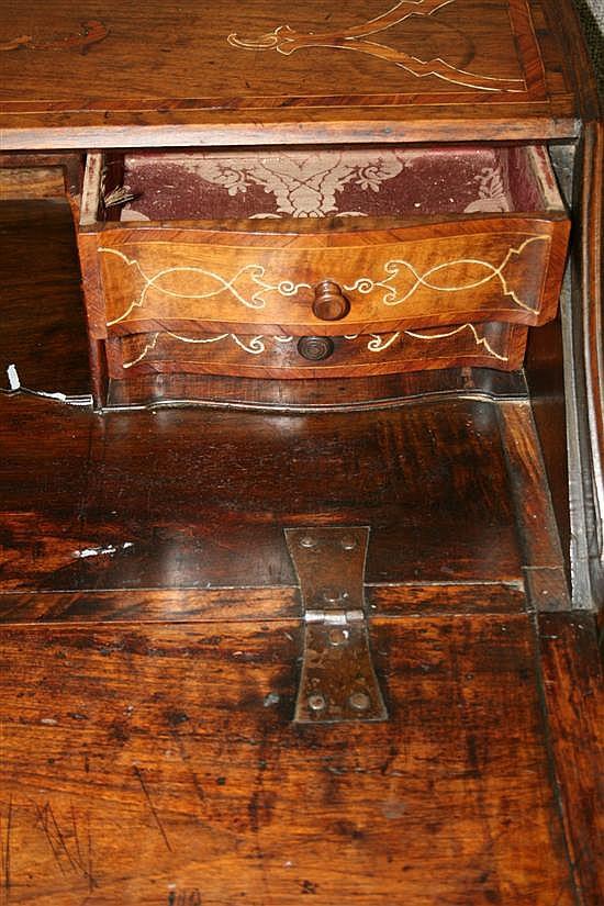 Louis XV inlaid walnut writing desk