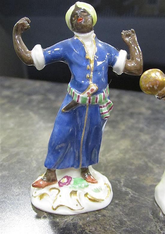 German miniature porcelain figure collection (10pcs)