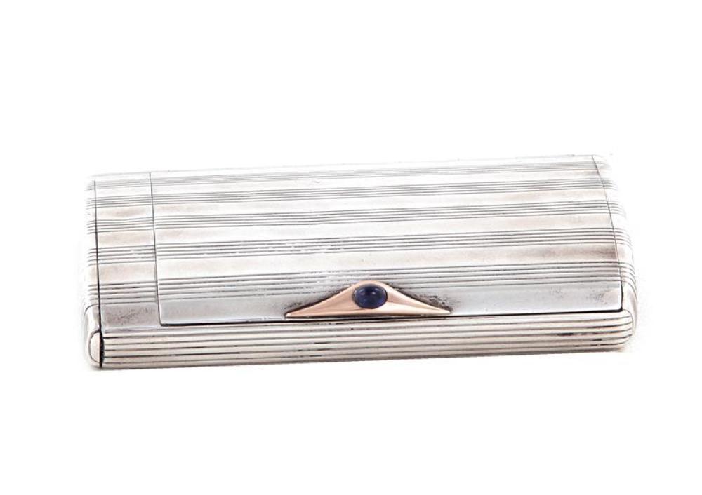 Fine Russian silver cigarette case