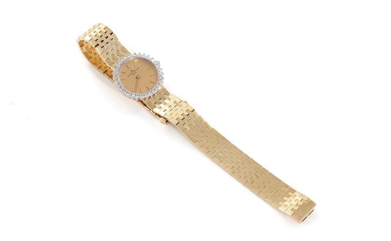 Baume & Mercier gold and diamond wristwatch