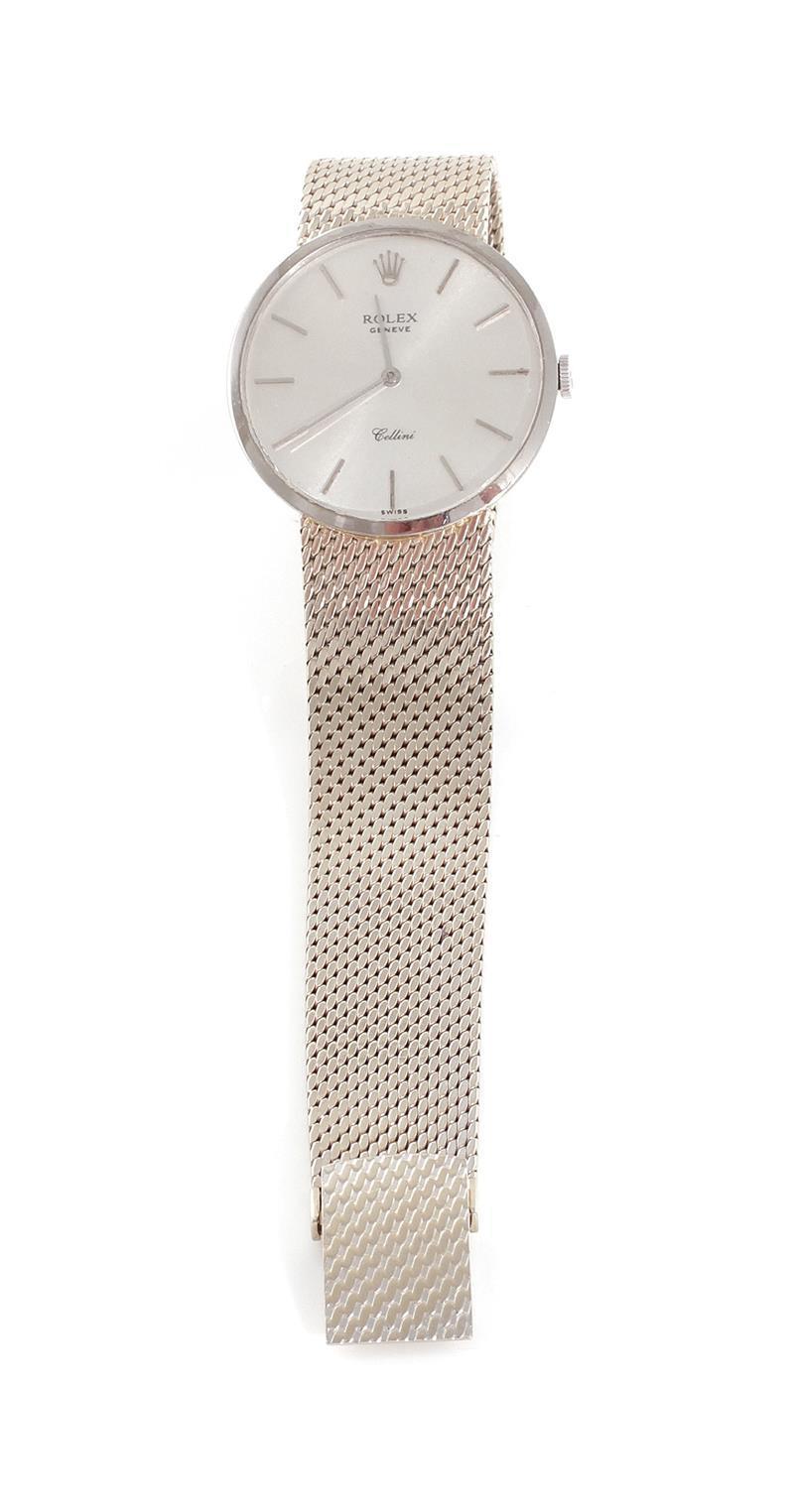 Rolex white gold Cellini wristwatch