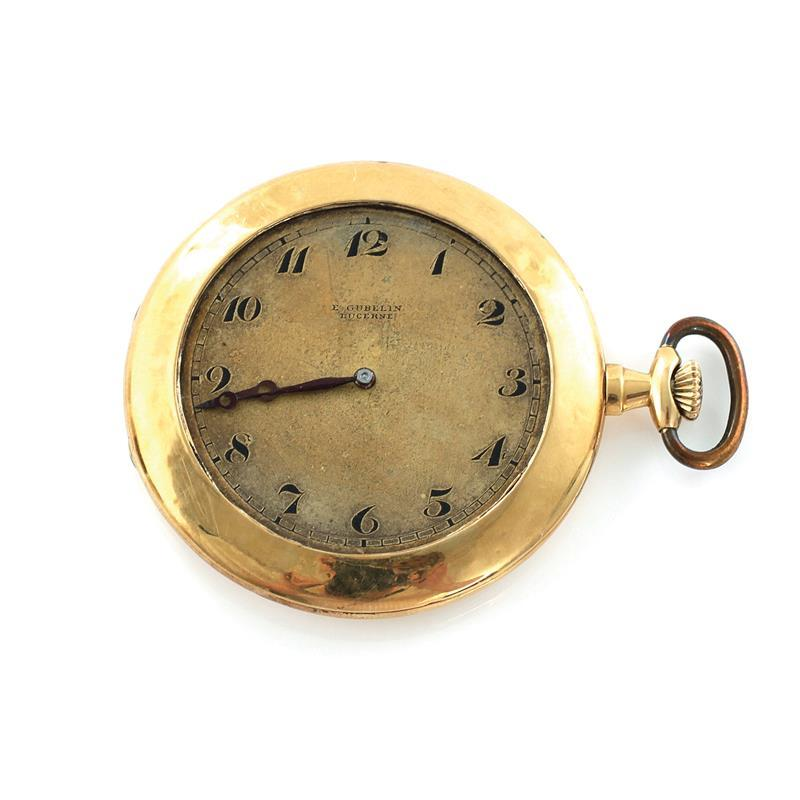 E. Gubelin gold pocket watch