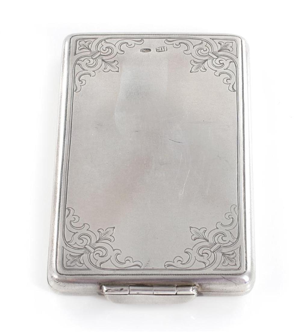 Russian silver cigarette case