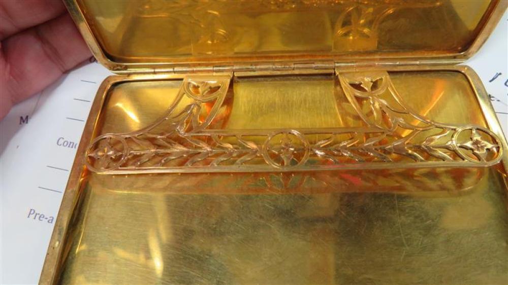 Vintage gold cigarette case