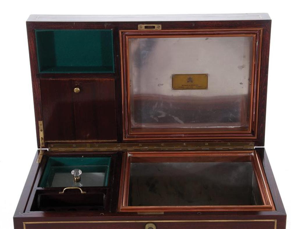Charlie Chaplin, Benson & Hedges brass inlaid humidor
