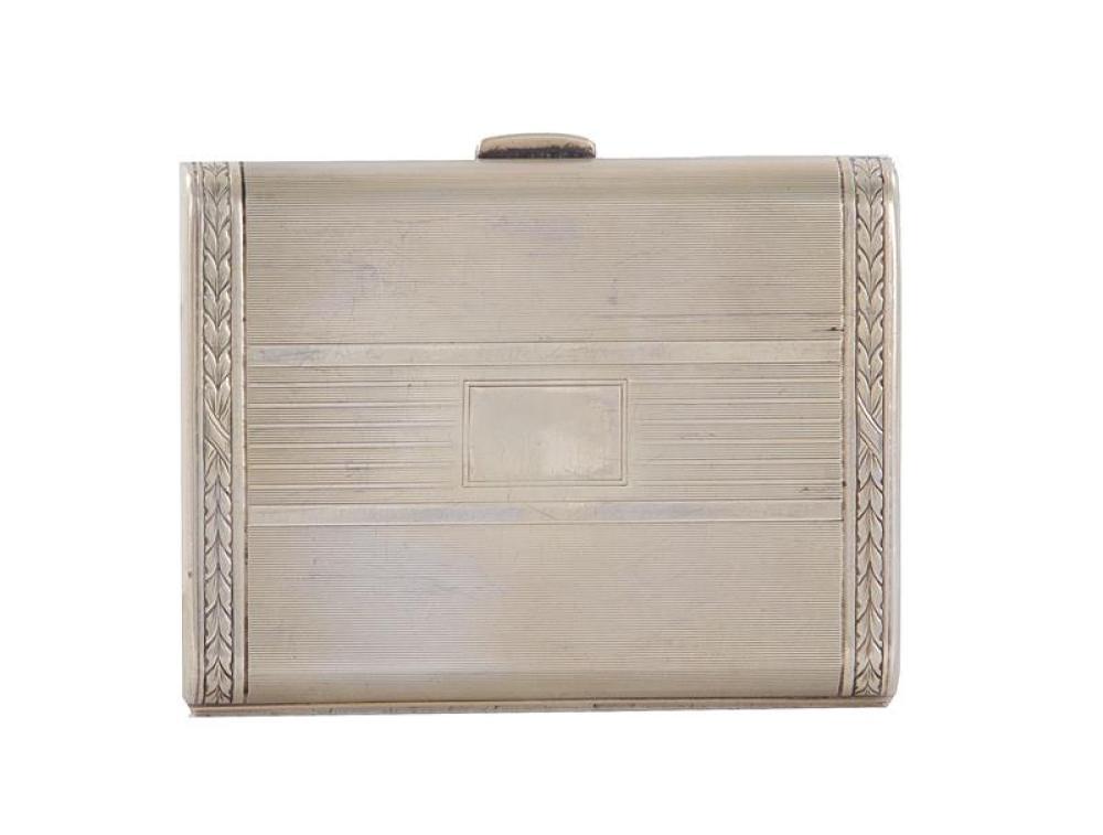 Tiffany & Co silver-gilt cigarette case