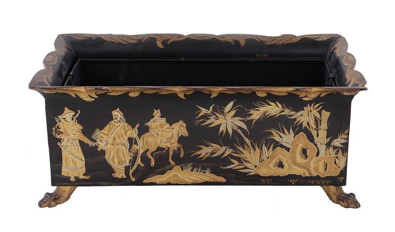 Regency style Chinoiserie decorated jardiniere