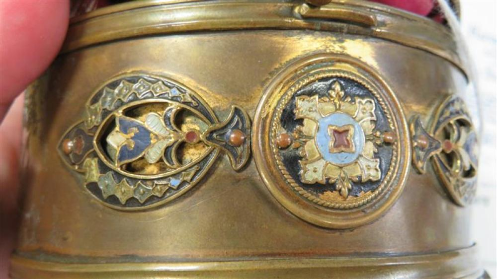 Fine Italian micromosaic and enameled box, Cesare Roccheggiani