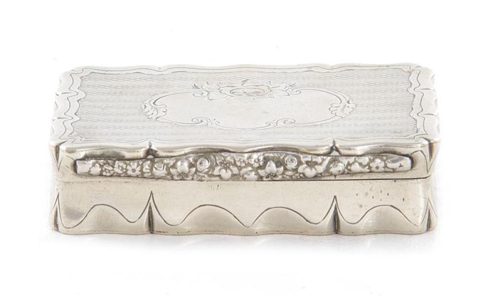 Continental silver-gilt snuff box