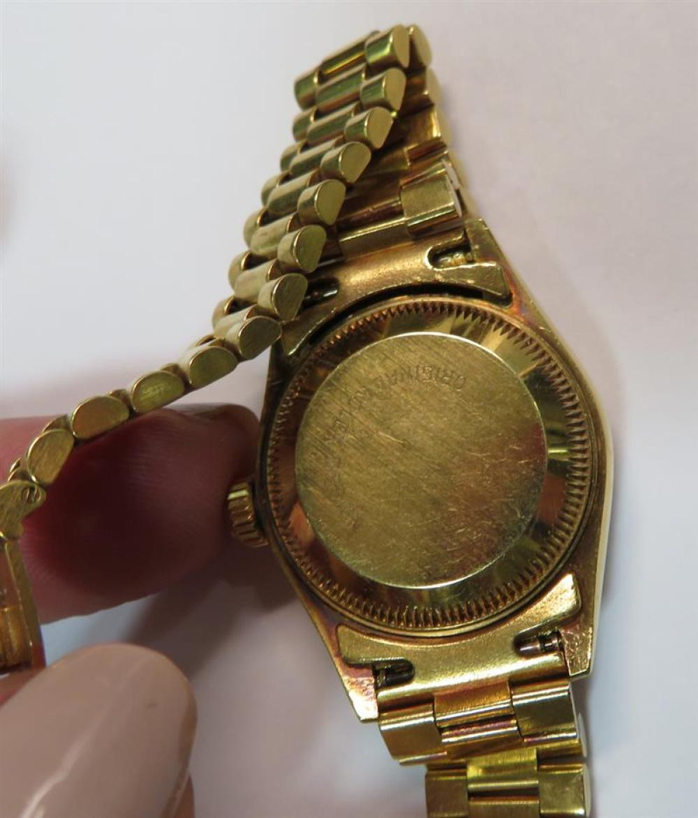 Rolex Datejust 18K gold and diamond wristwatch