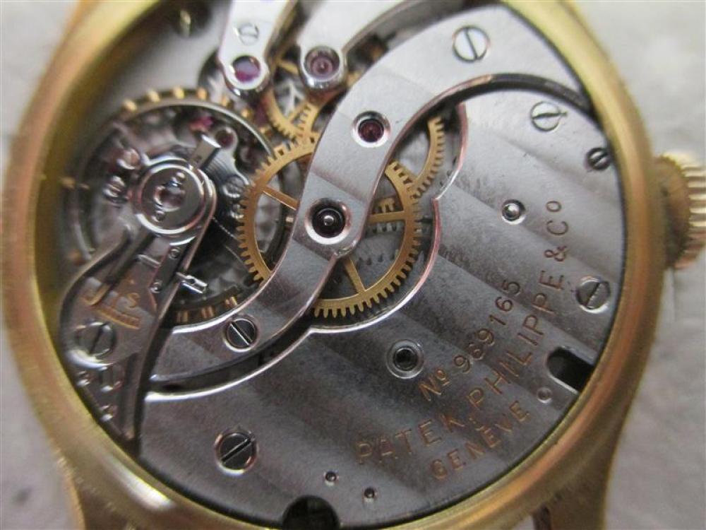 Vintage Patek Philippe Calatrava gold wristwatch