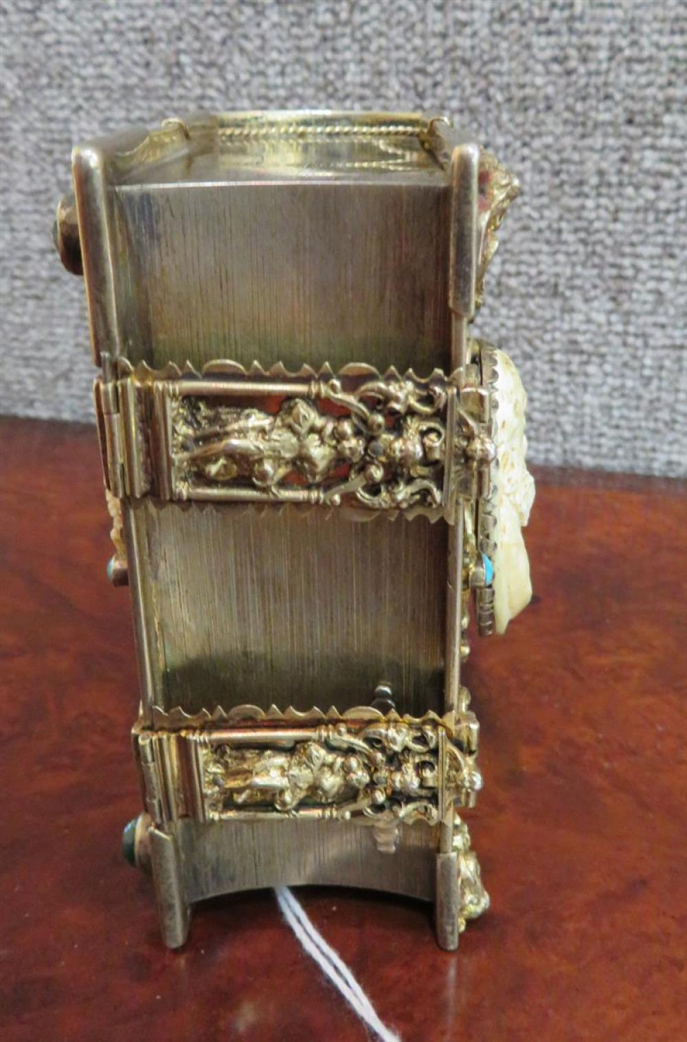 Continental book-form singing bird box, attributed to Karl Griesbaum