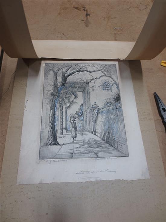 Elizabeth O'Neill Verner, rare trial proof etching