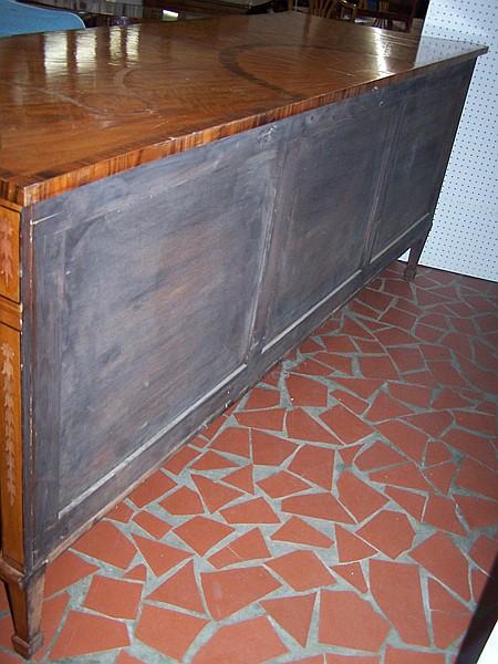 Adam style inlaid satinwood sideboard