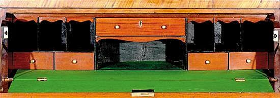 Georgian style mahogany secretaire bookcase