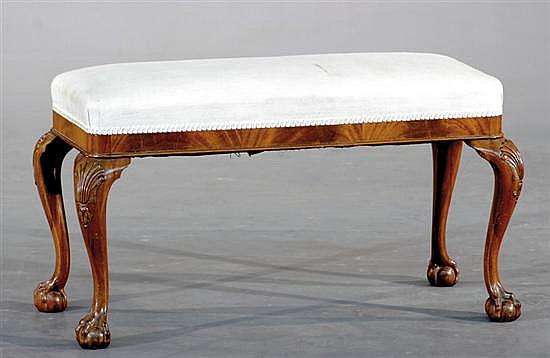 George II style carved walnut bench