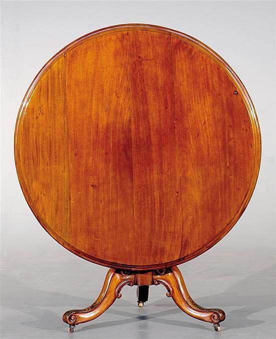 Regency style walnut breakfast table