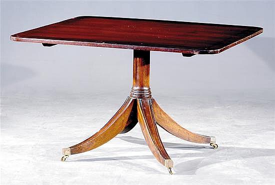 English mahogany breakfast table