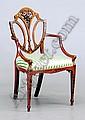 Image 2 for George III painted satinwood armchair