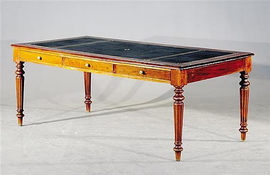 Regency style mahogany library table
