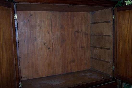 George III mahogany linen press