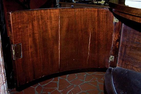 Georgian mahogany demilune server