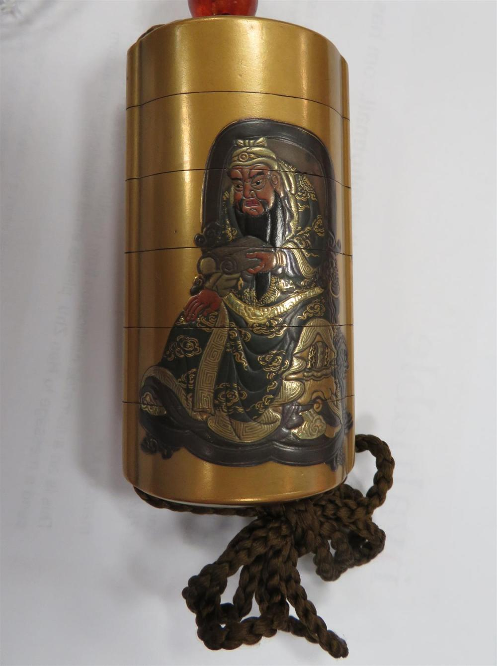 Japanese lacquer five-case inro, signed