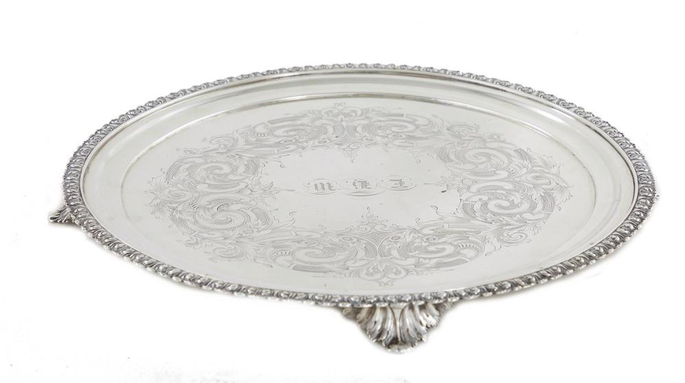 American coin silver footed salver, Lincoln & Foss