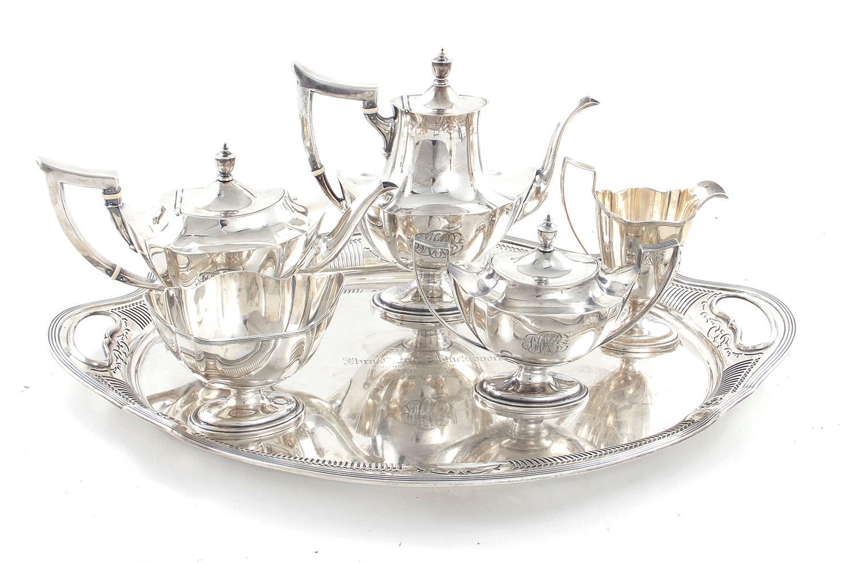 The Ibra Charles Blackwood tea service, of South Carolina interest (6pcs)