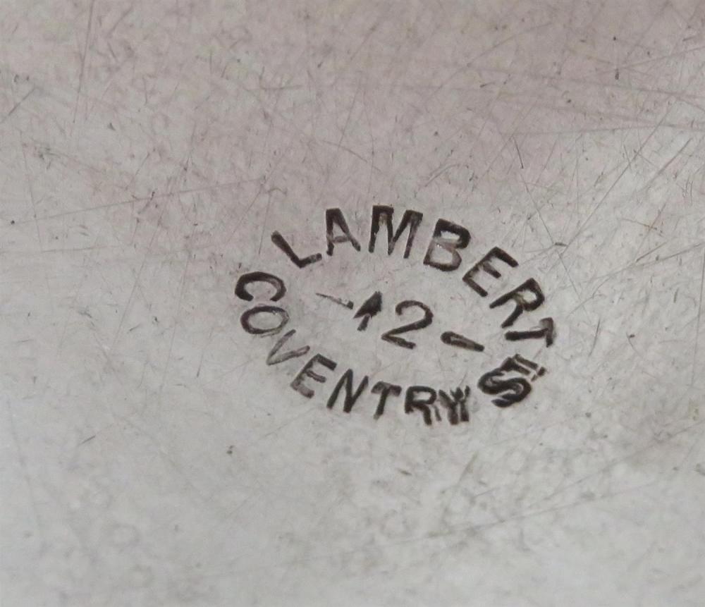 English Britannia silver shell-form 'shrimp' dishes, by Lambert & Co (4pcs)