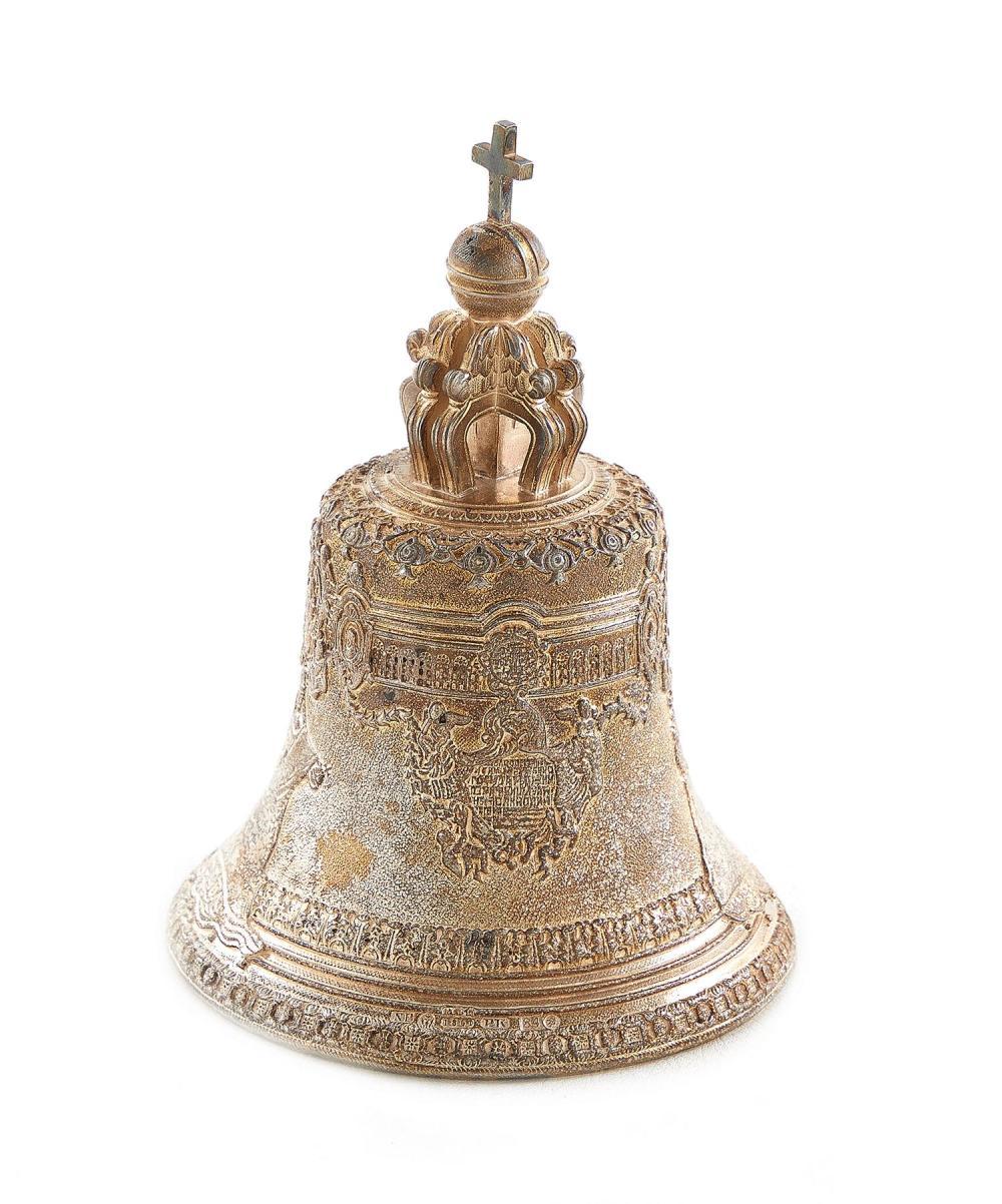 Russian silver-bronze Tsarsky Kolokol (Tsar Bell)
