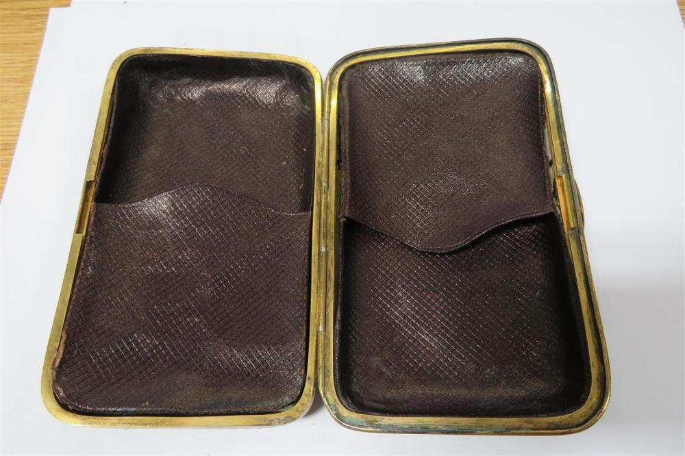 Continental enameled cigar case