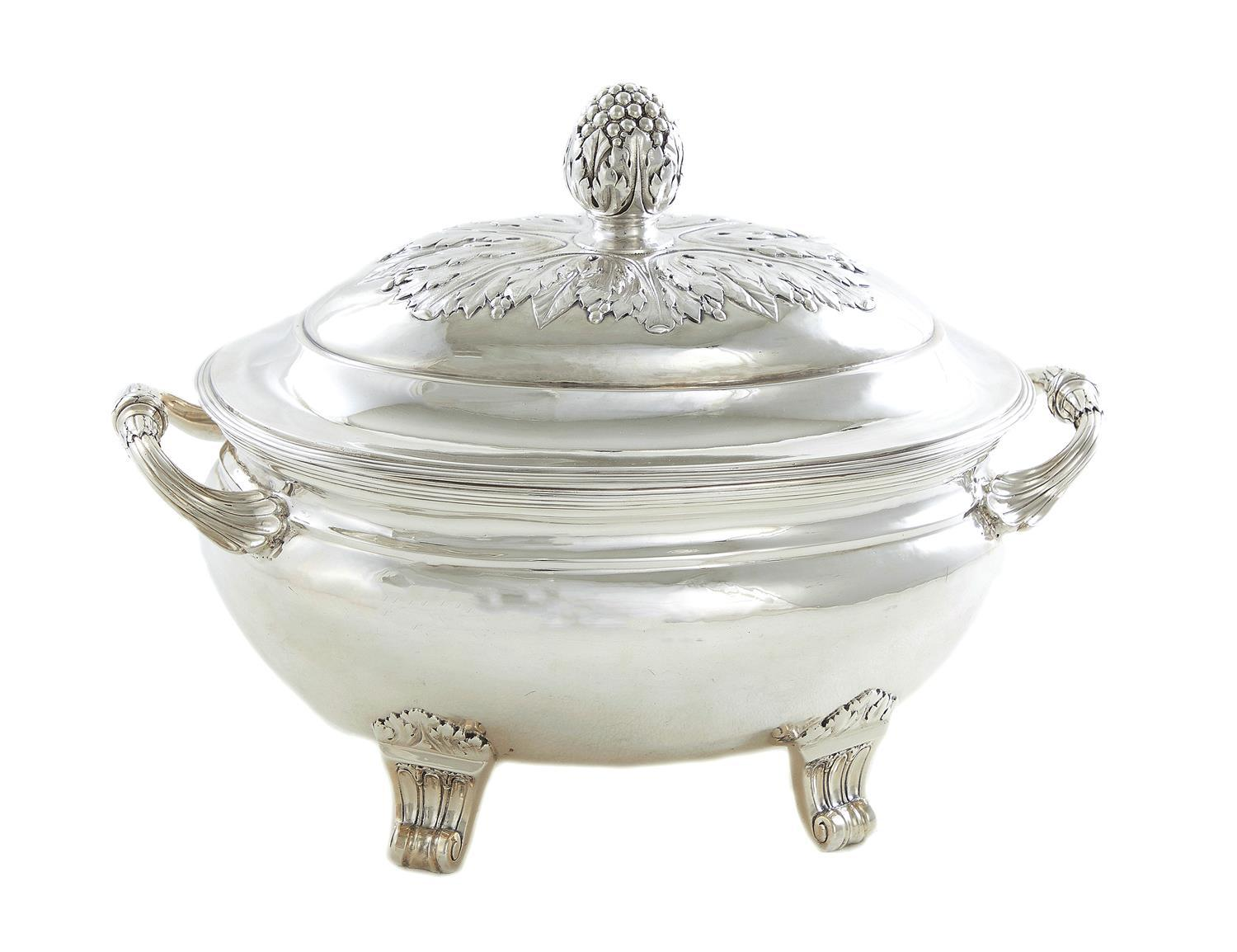 Fine French silver tureen and cover