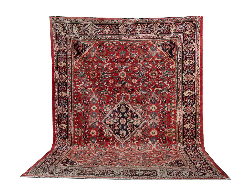 Semi-antique Persian Mahal carpet