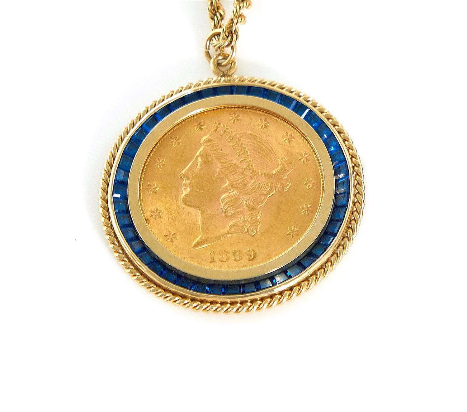 †Liberty Head US $20 gold piece