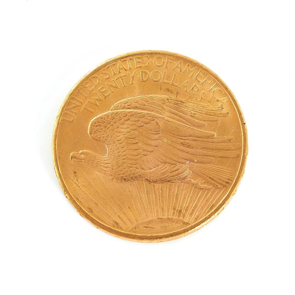 †St. Gaudens $20 gold piece