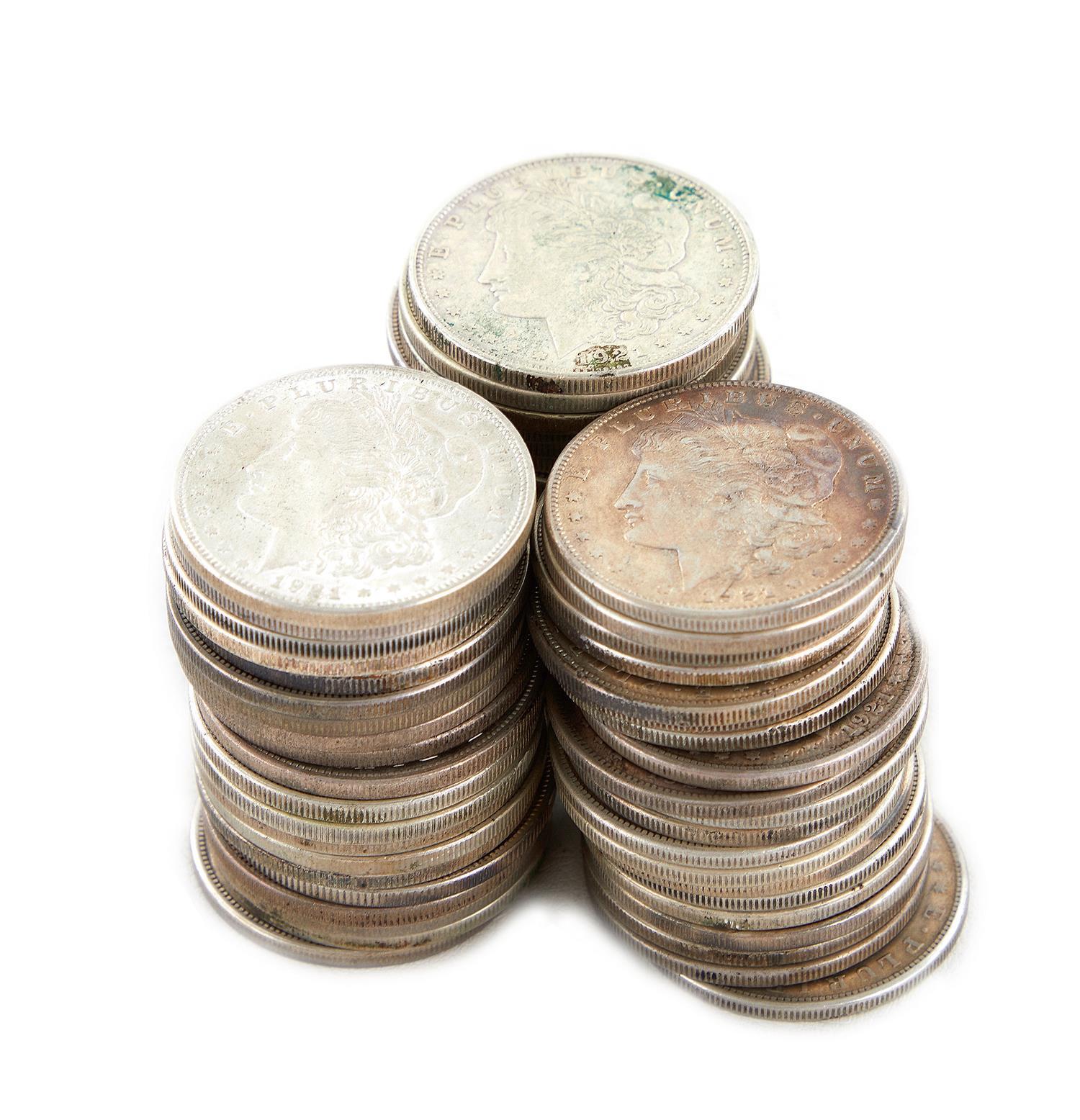 †Morgan silver Dollar collection (60pcs)