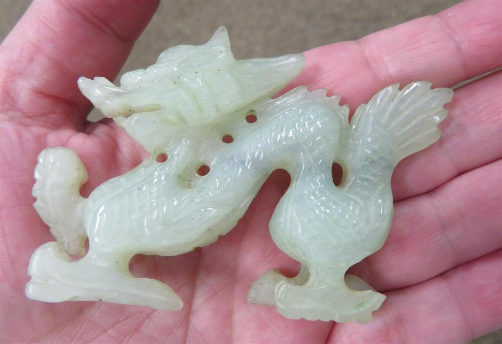 Chinese carved jade and stone miniature objects (7pcs)