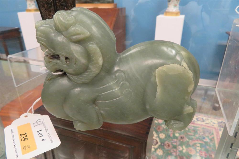 Chinese carved jade bixie