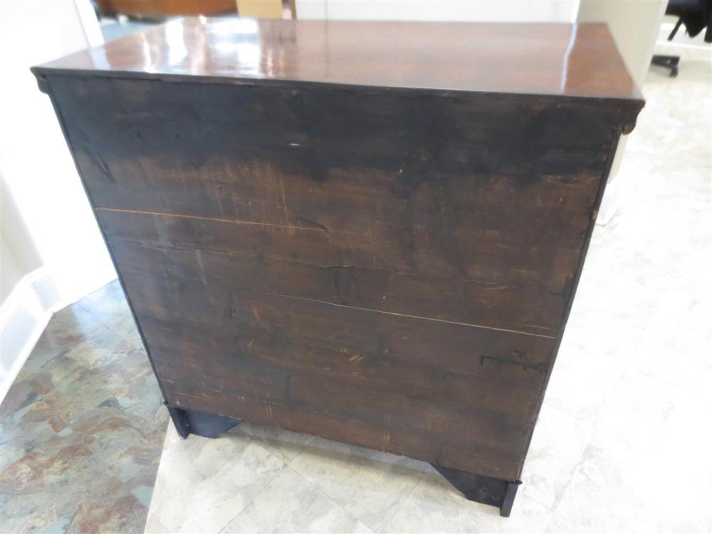 George II style burl walnut chest of drawers