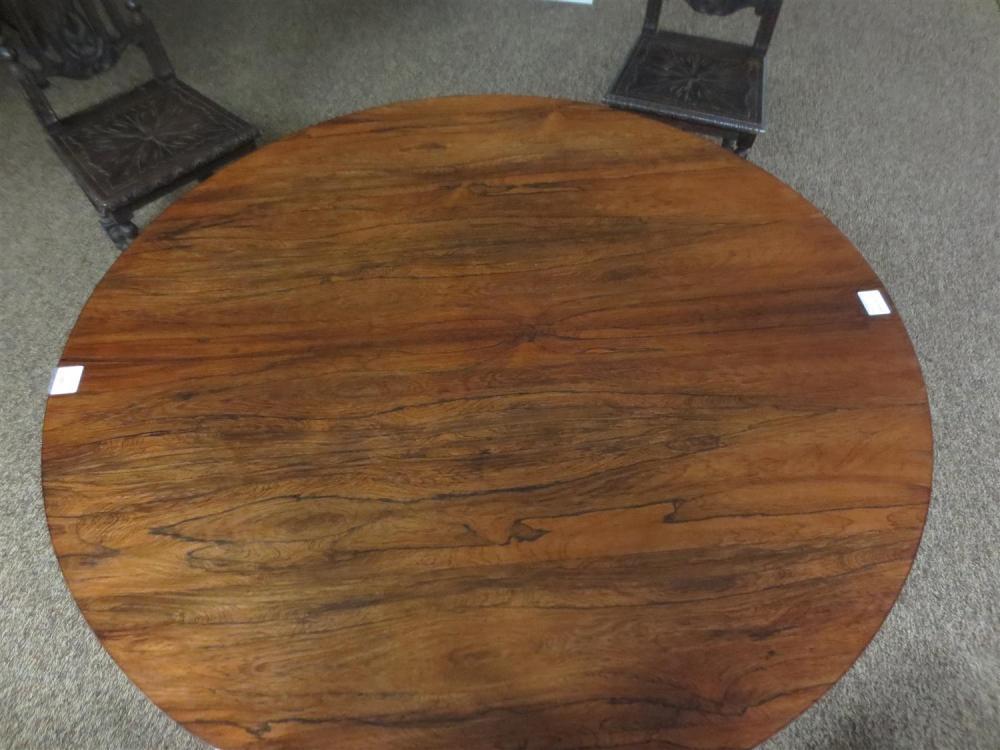 William IV rosewood center table