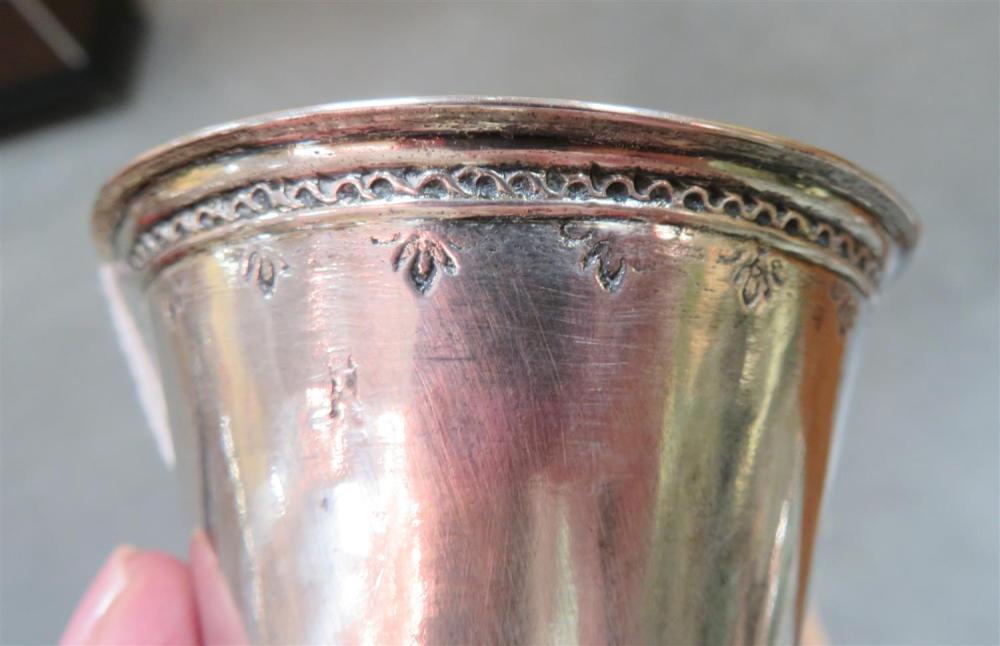 Early Scandinavian silver beaker