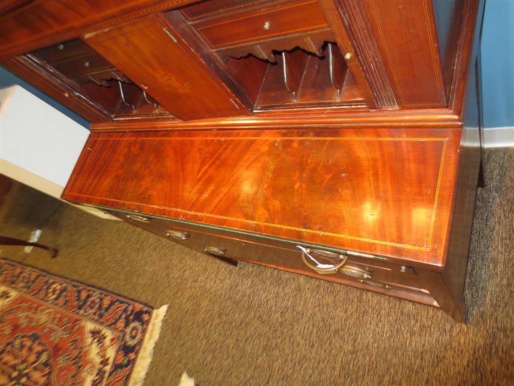 Federal inlaid mahogany writing desk
