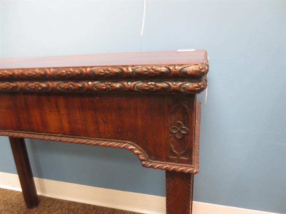 Georgian carved mahogany card table