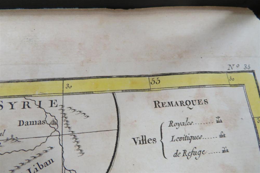 Rare Rigobert Bonne's map of Israel